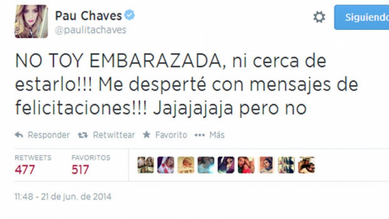 Paula Chaves desmintió los rumores sobre un posible embarazo (Foto: Captura).