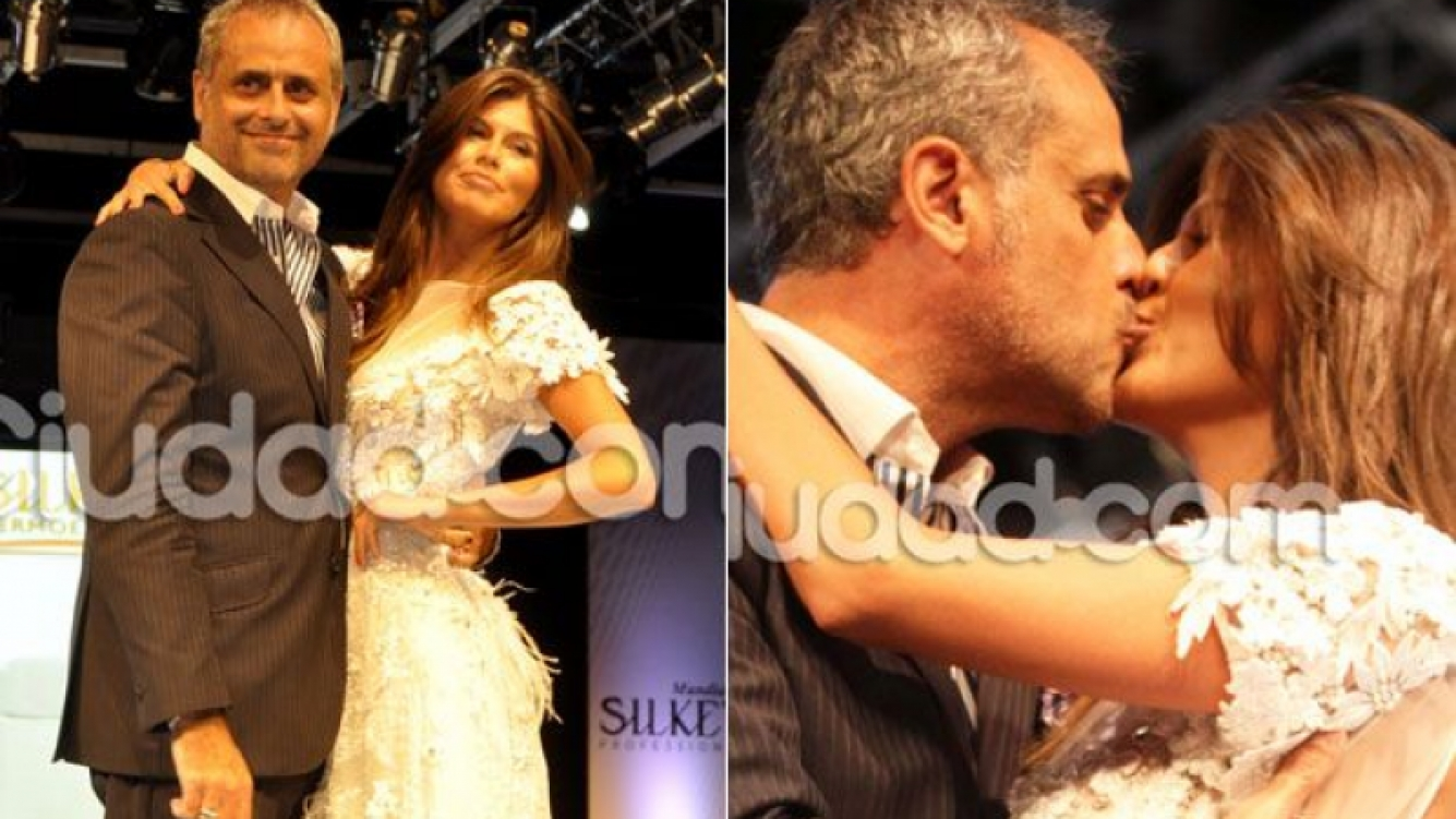 Rial y Loly, cuando la modelo lució un vestido de novia. ¿Se viene la boda? (Fotos: archivo Ciudad.com)