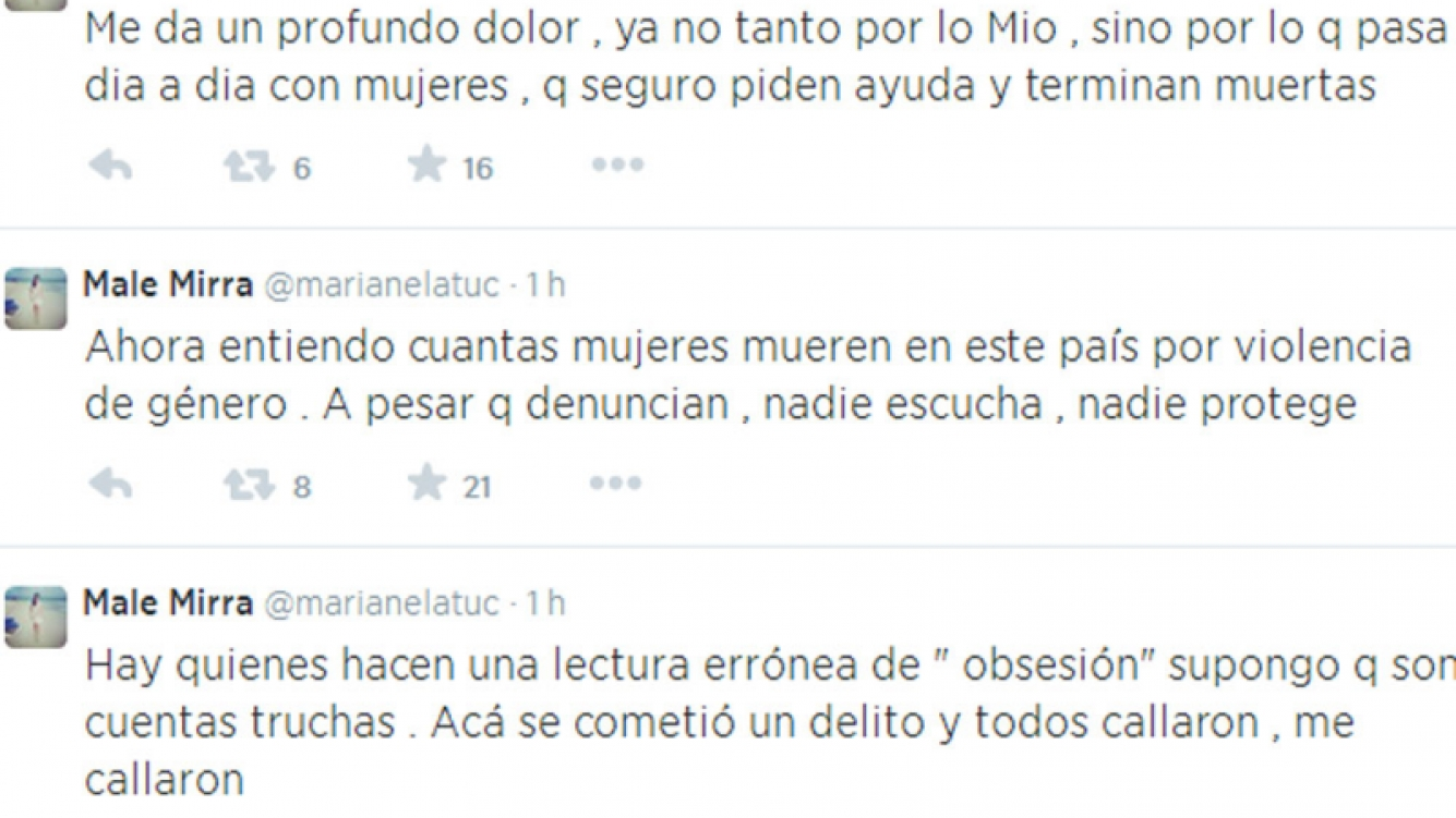 Marianela Mirra contra Jorge Rial (Foto: Twitter)