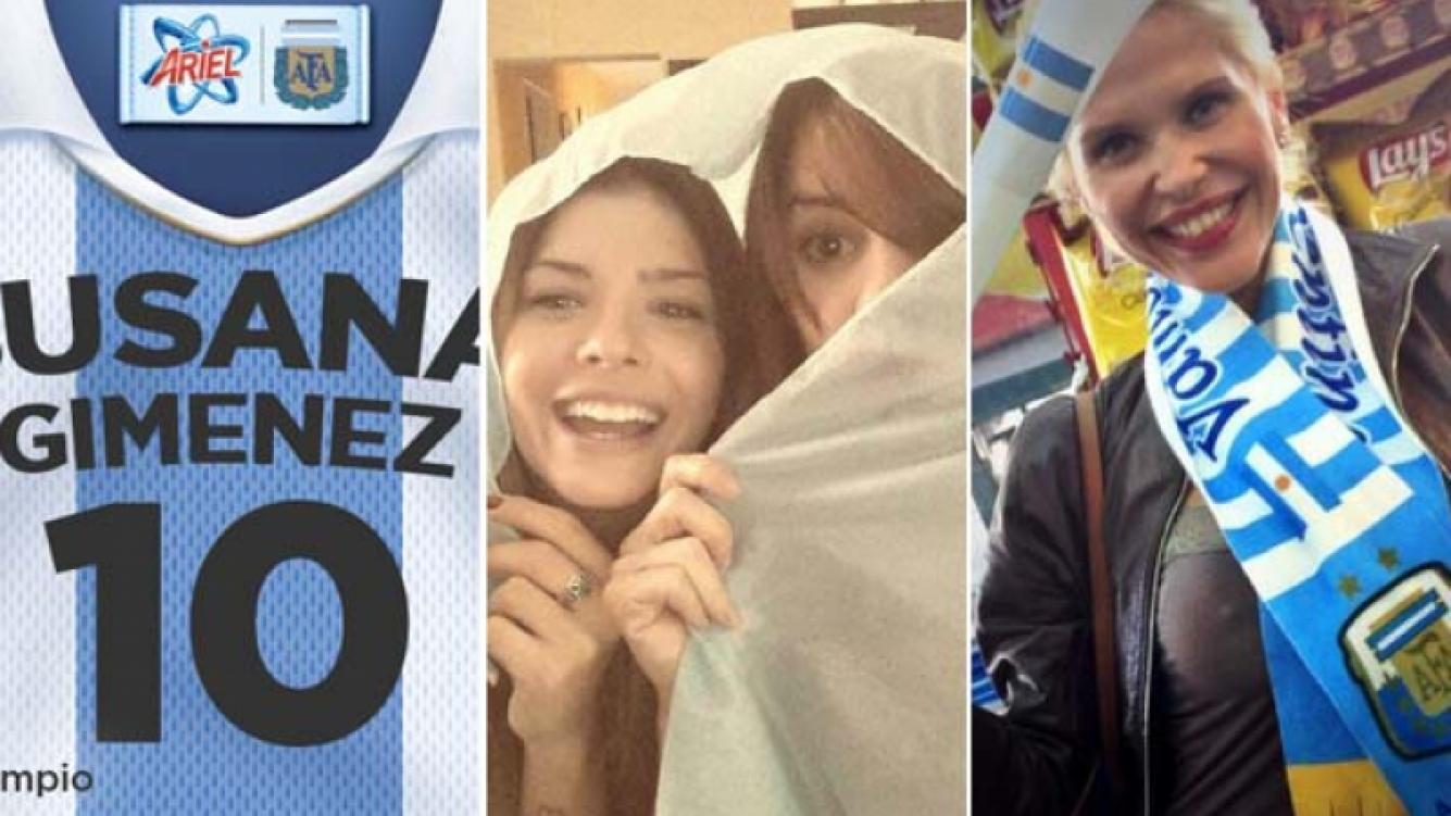 Susana Giménez, Gimena Accardi y China Suárez, y Nazarena Vélez, alentaron a la Selección en Twitter: (Fotos: Twitter)