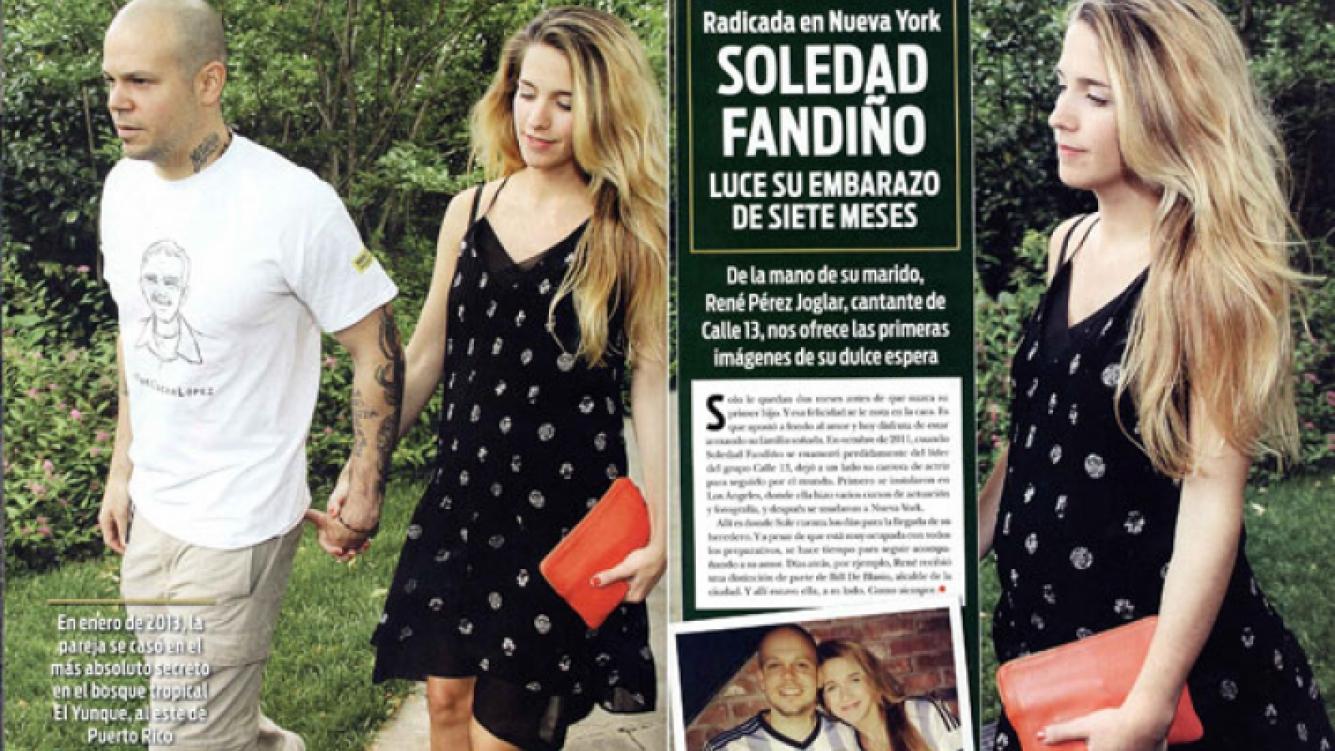 Soledad Fandiño y René Pérez. (Foto: revista ¡Hola! Argentina)