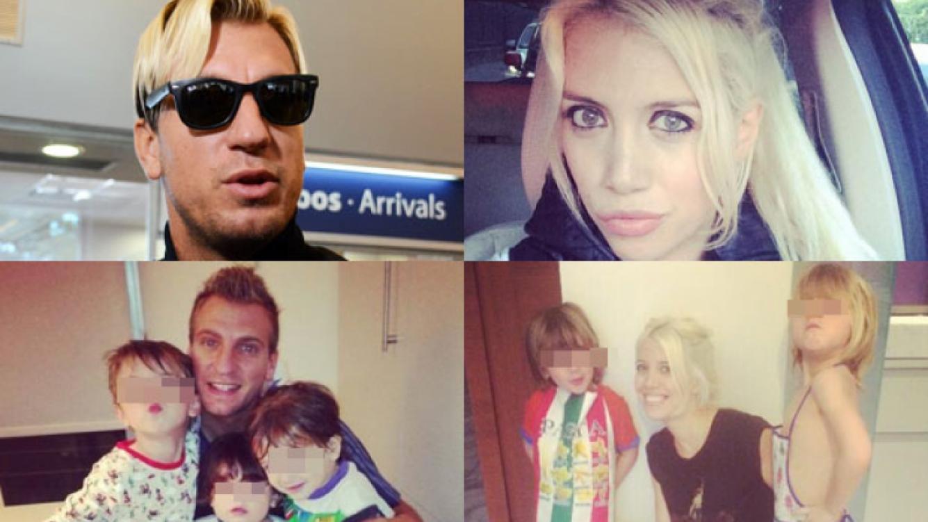 Maxi López niega haber pedido la tenencia de sus hijos con Wanda (Fotos: Web).