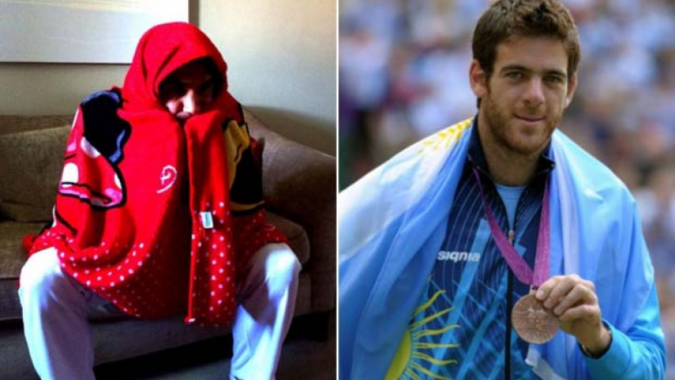 Roger Federer y Juan Martín del Potro, chicaneros en Twitter. (Foto: Web)