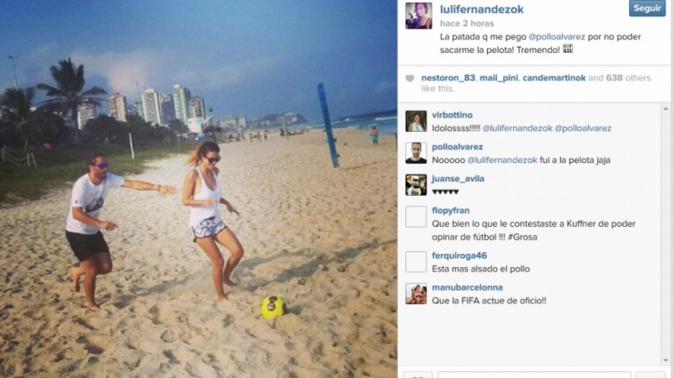 Luli Fernández en las arenas de Río de Janeiro. (Foto: Instagram.com/lulifernandezok)