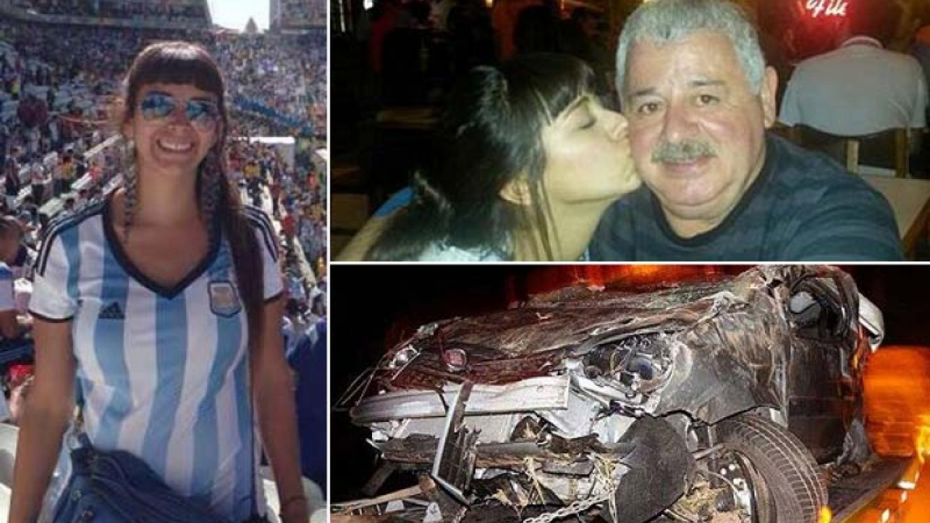 María Soledad Fernández y su papá, Miguel Tití Fernández. (Foto: Web)