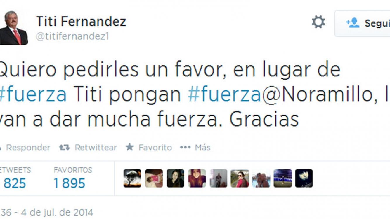 Tití Fernández a María Soledad (Foto: Twitter)