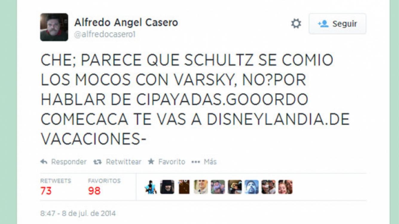 Alfredo Casero, durísimo contra Gabriel Schultz. (Foto: web)