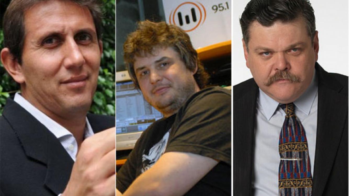 Alfredo Casero, Gabriel Schultz, Juan Pablo Varsky (Foto: Web)