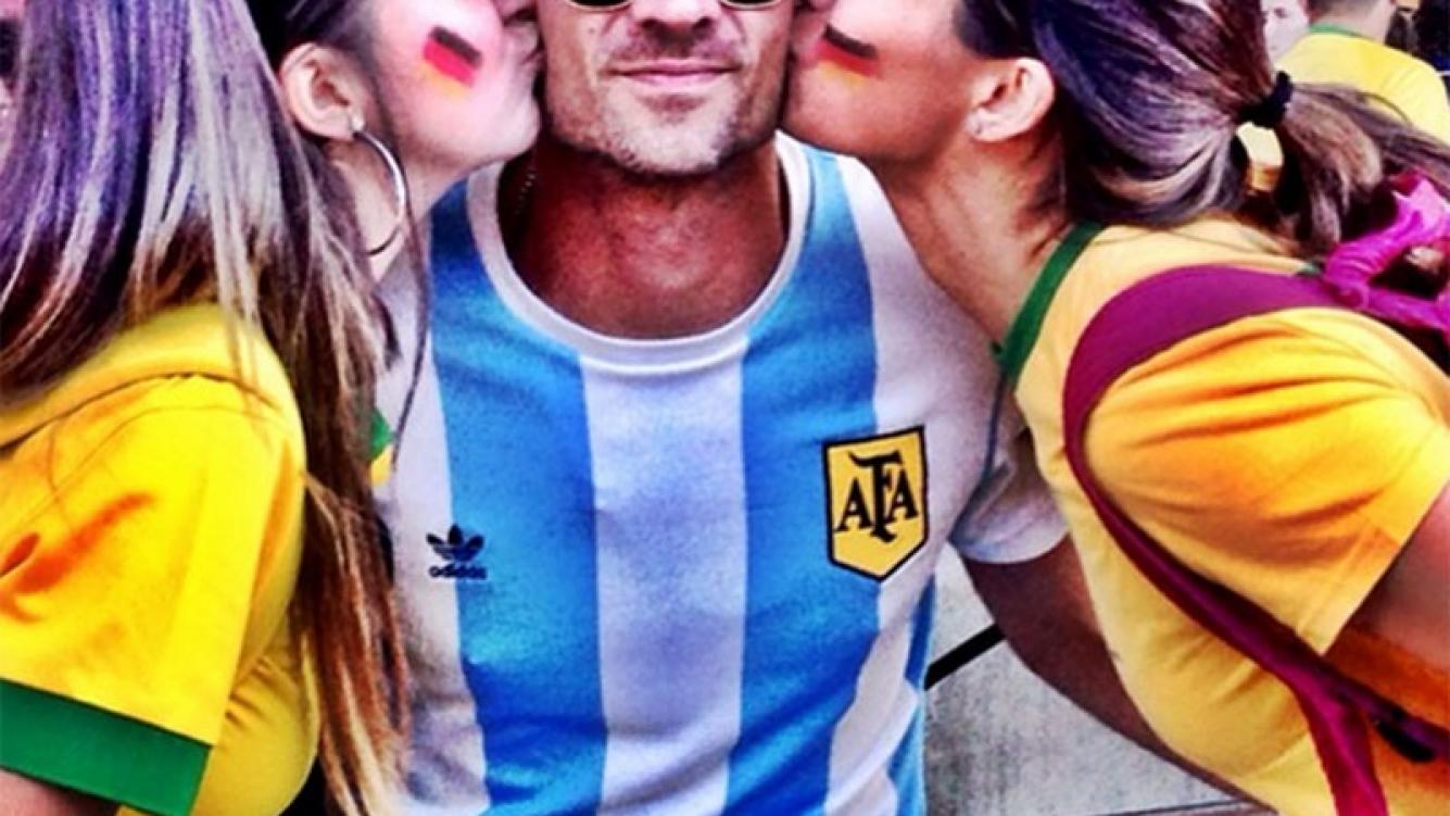 Chano Moreno Charpentier en el Mundial en Brasil (Foto: Instagram)
