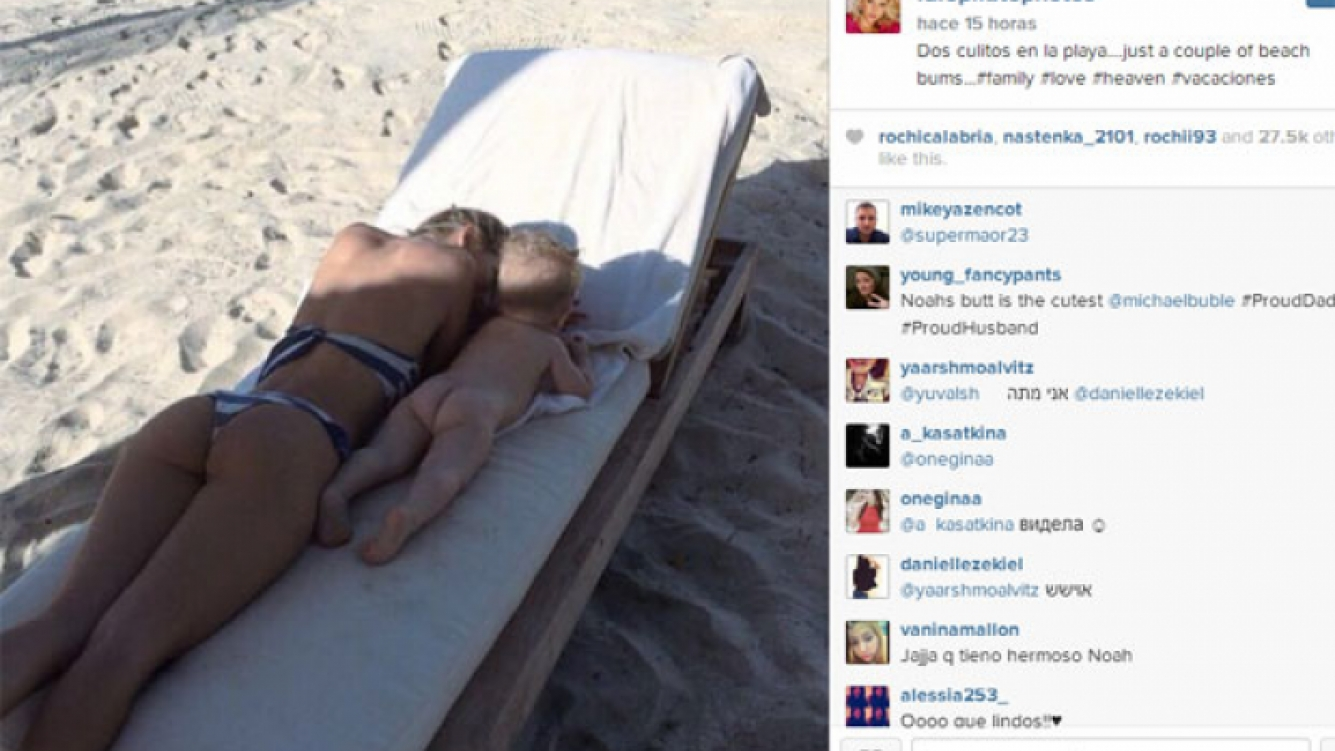 Luisana Lopilato y una divertida foto con su hijo Noah (Foto: Instagram).