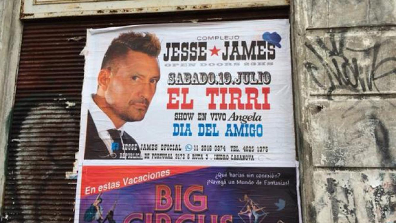 El afiche del Tirri que sorprendió a Tinelli. (Foto: Twitter @cuervotinelli)