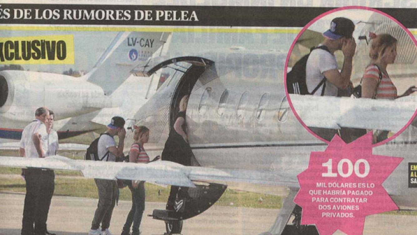 Karina y Agüero viajaron junto a sus familiares a Aruba (Fotos: MUY ).