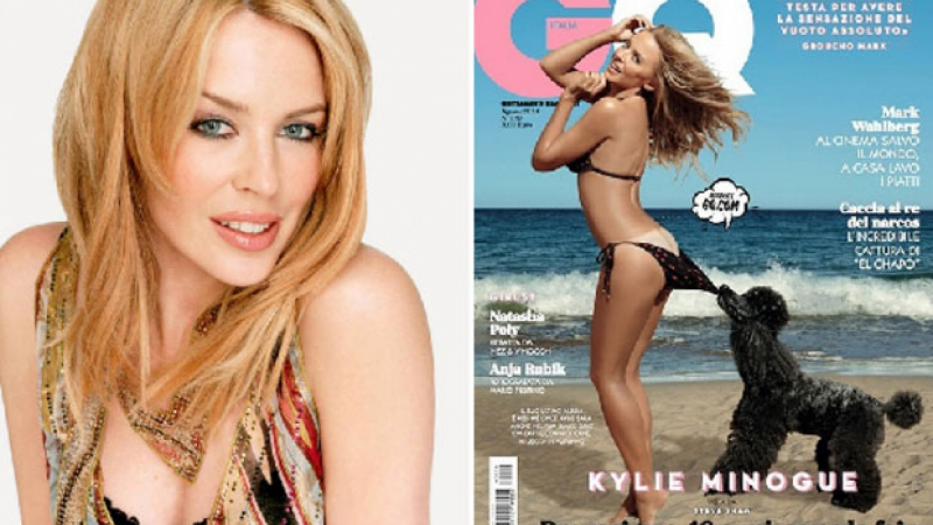 Kylie Minogue deja mucho al descubierto en la portada de la revista GQ. (Foto: Web/ Instagram)