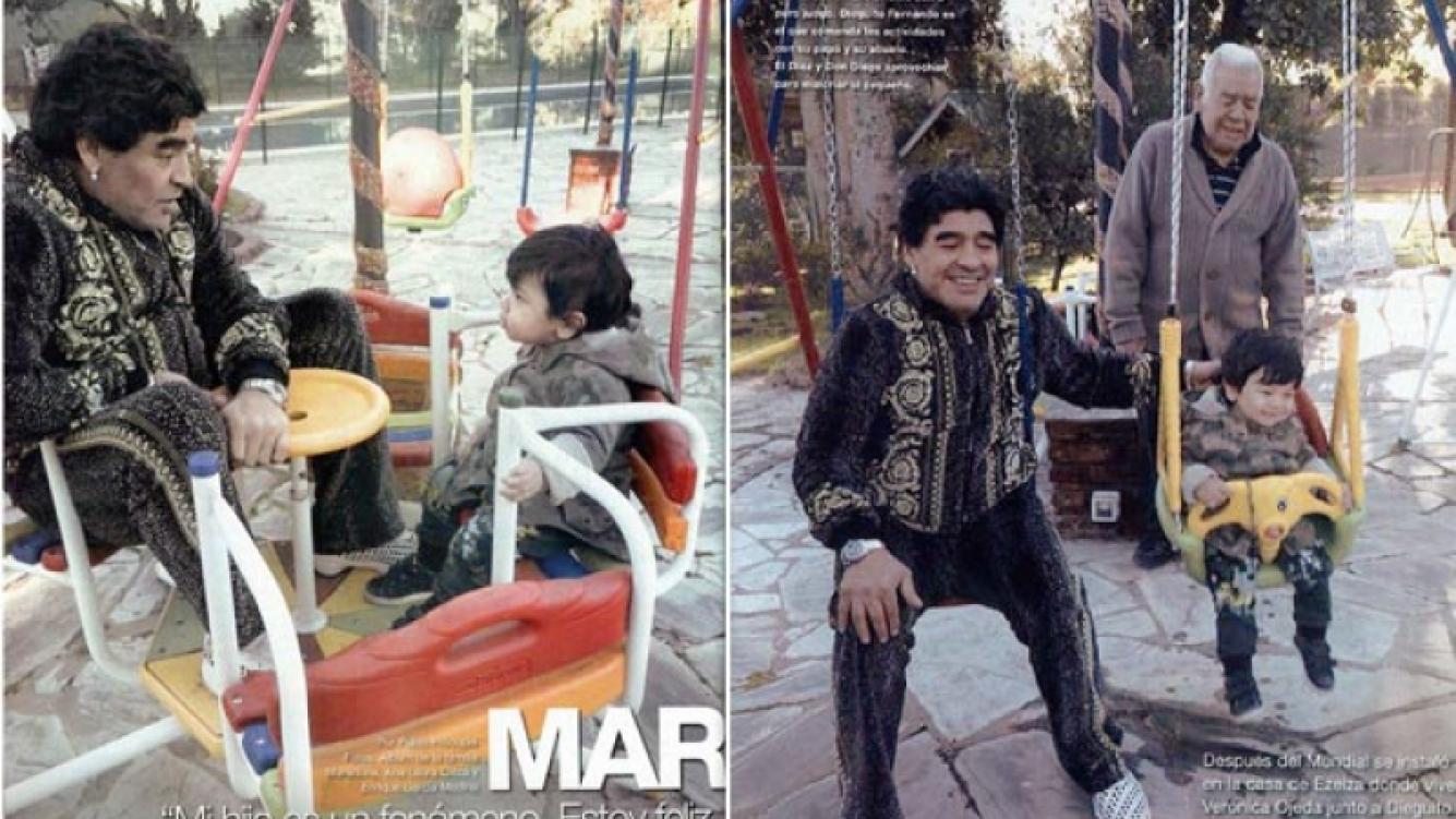 Diego Armando Maradona, Diego Fernando Maradona y Don Diego. (Foto: revista Gente)