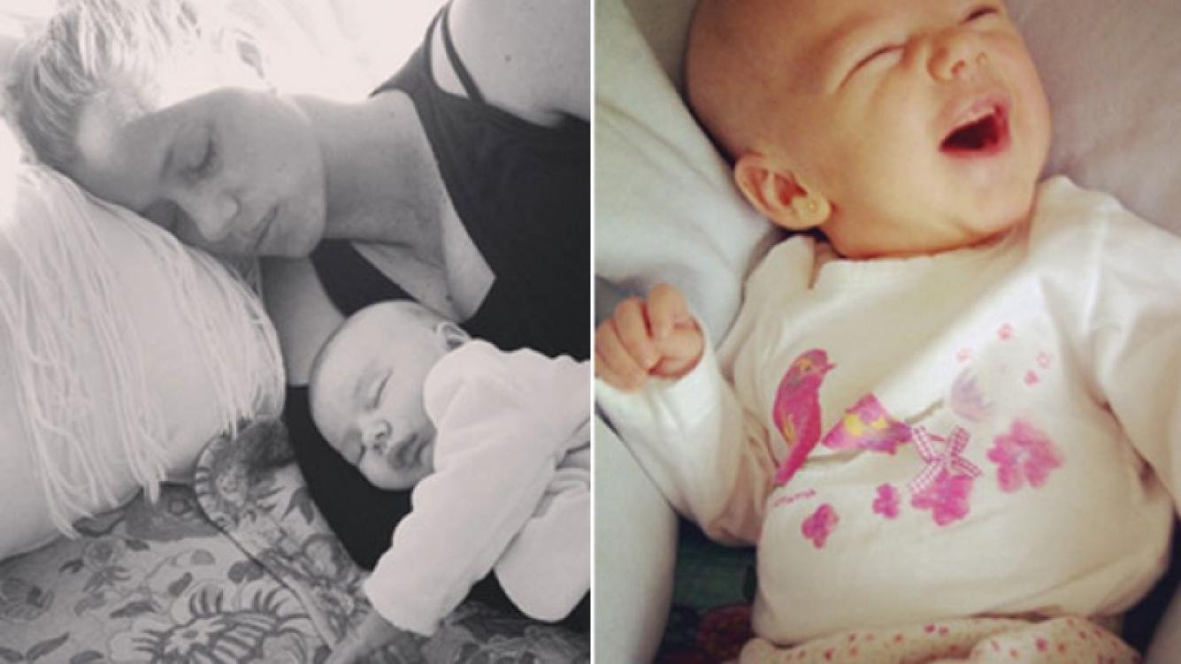 Nicole Neumann y su hija Sienna. (Fotos: Instagram)