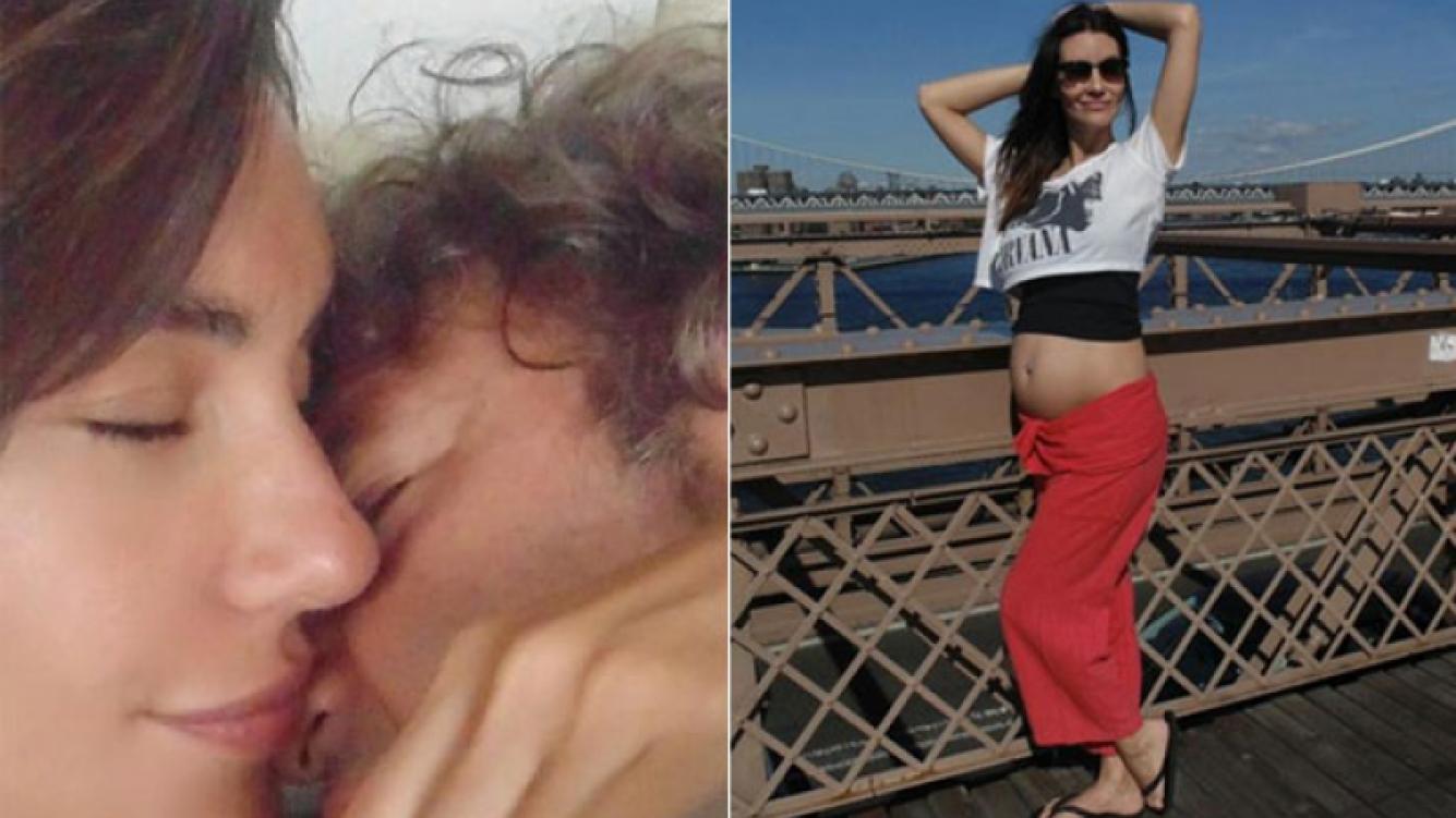 Paula Morales mostró por primera vez su pancita de embarazada en Nueva York (Foto: Twitter)