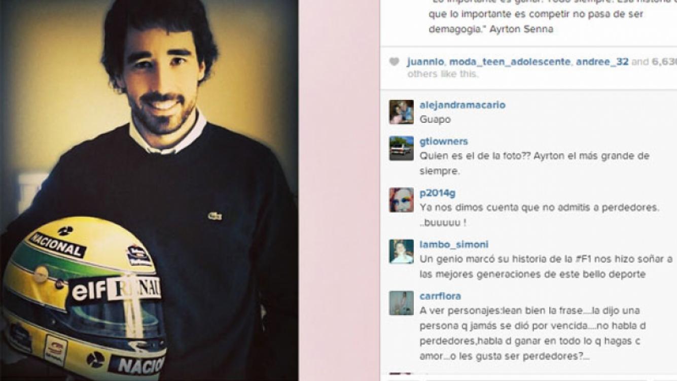 Días atrás, Cande subió esta foto de su novio (Fotos: Instagram).