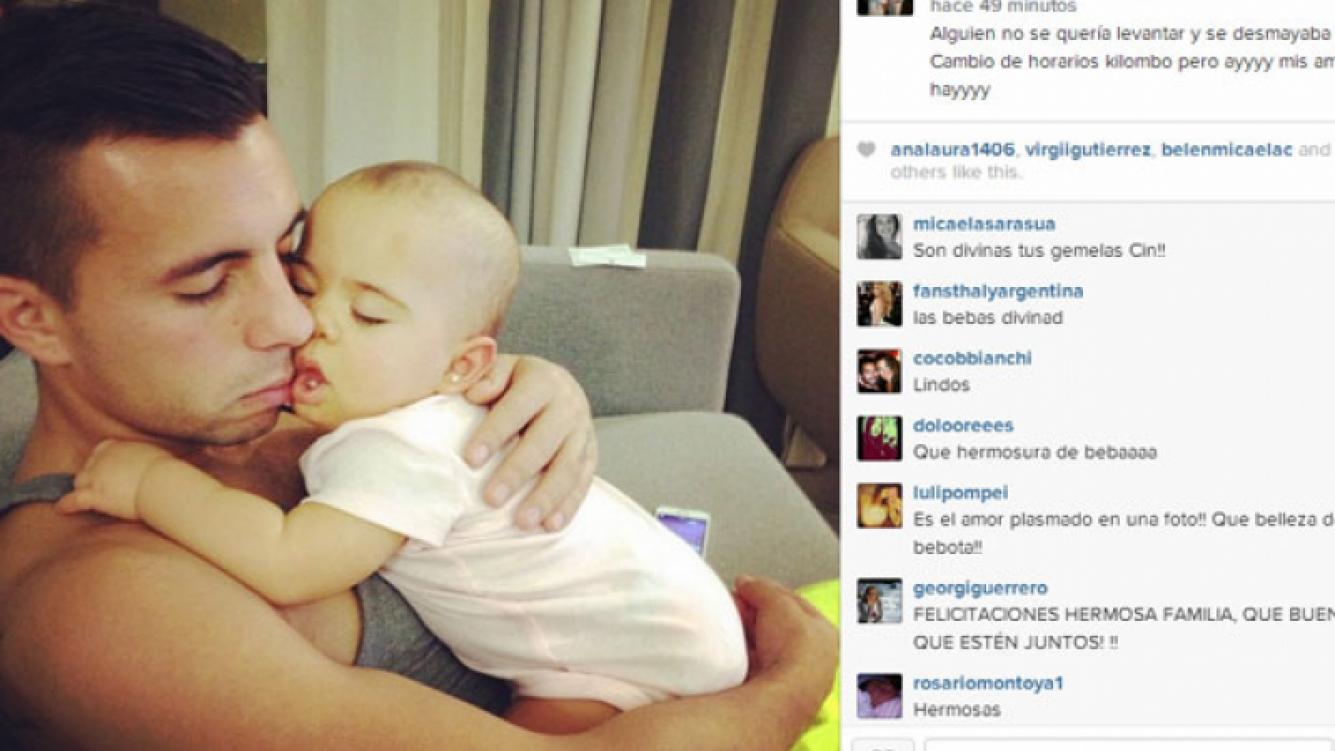 Una foto súper tierna de Matías con una de sus hijas (Foto: Instagram).