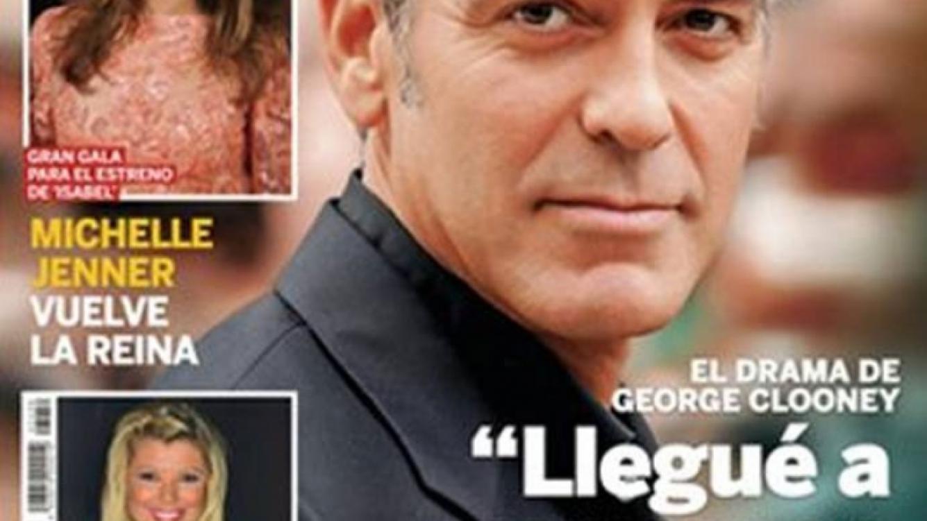 George Clooney aseguró que pensó en suicidarse: el motivo. (Foto: Revista Lecturas)