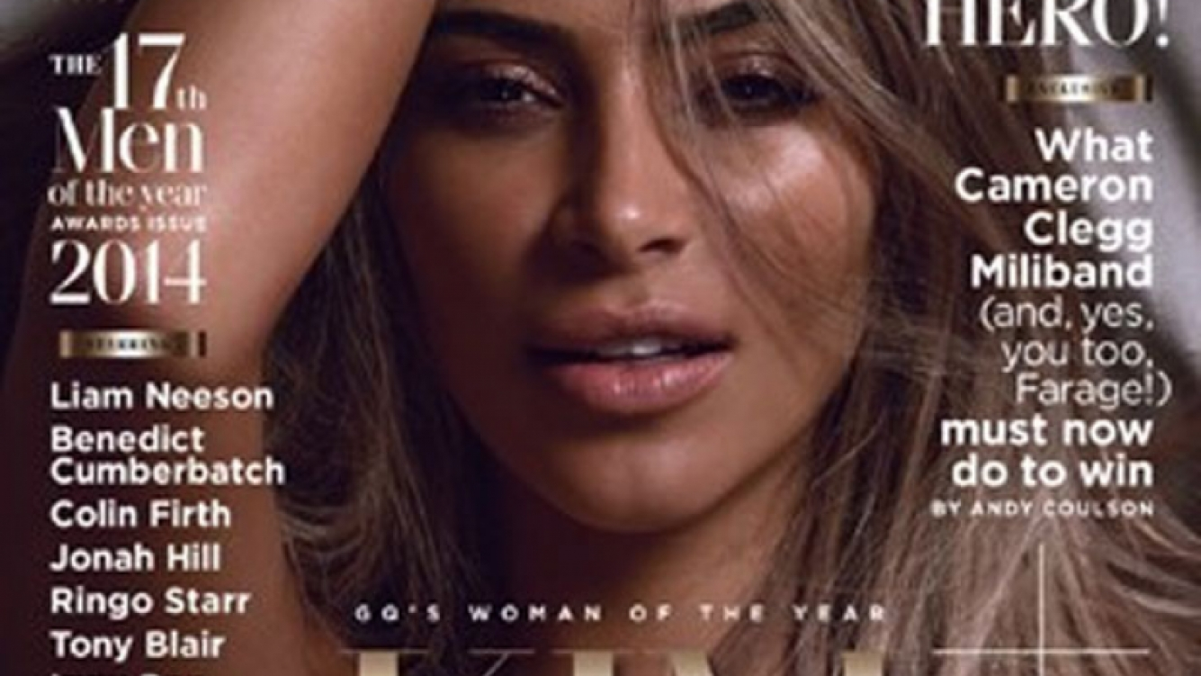 Kim Kardashian: completamente desnuda y súper hot para la revista British GQ. (Foto: British GQ)