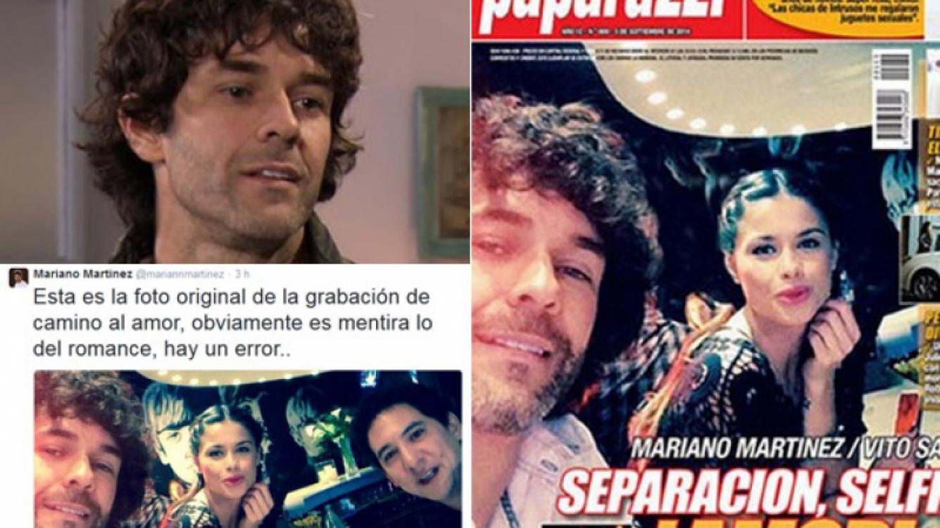 La reacción de Mariano Martínez ante la tapa de Paparazzi que lo vincula con Vitto Saravia (Foto: Web y Paparazzi)