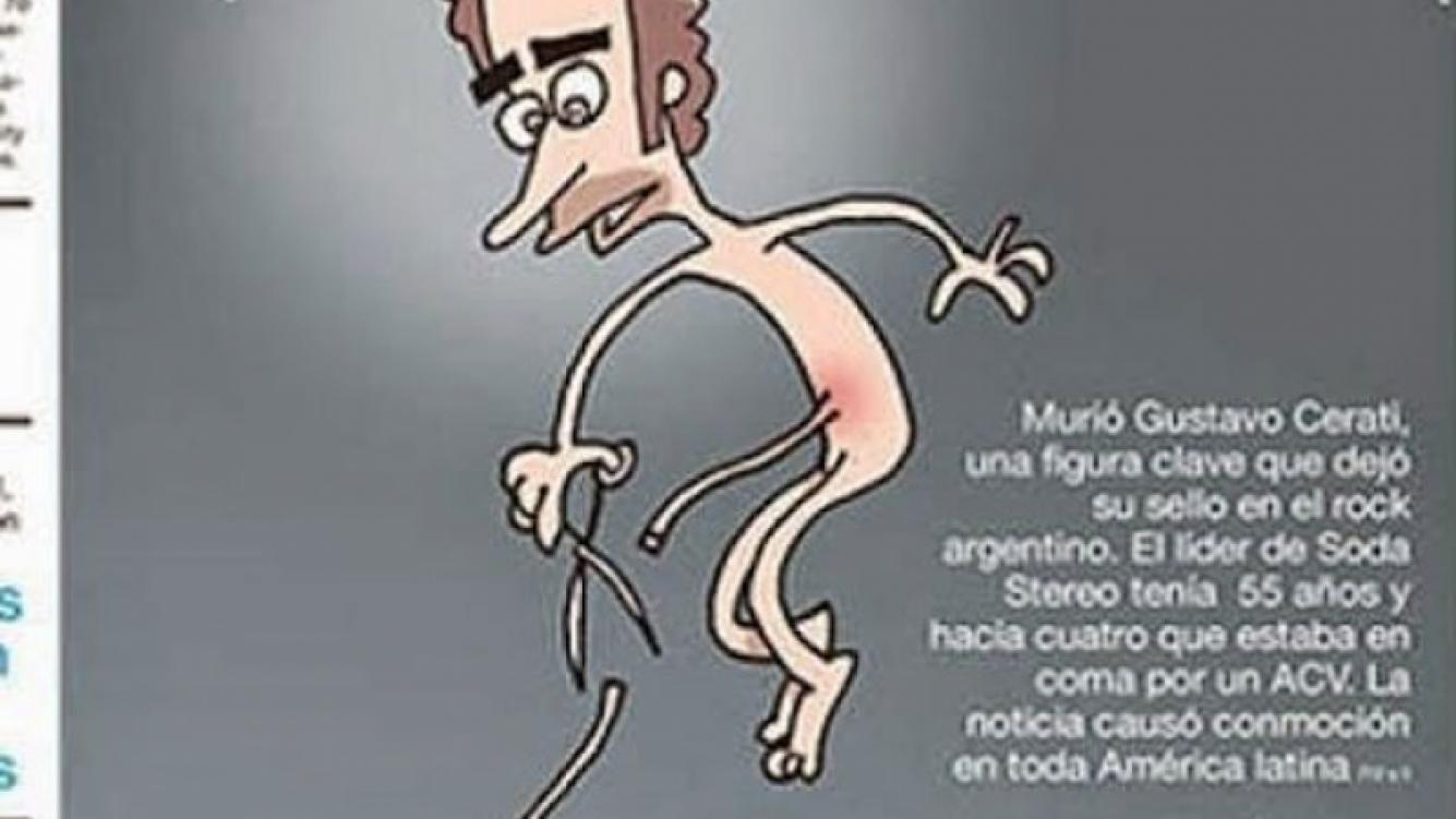 La tapa de Página 12 sobre la muerte de Gustavo Cerati.