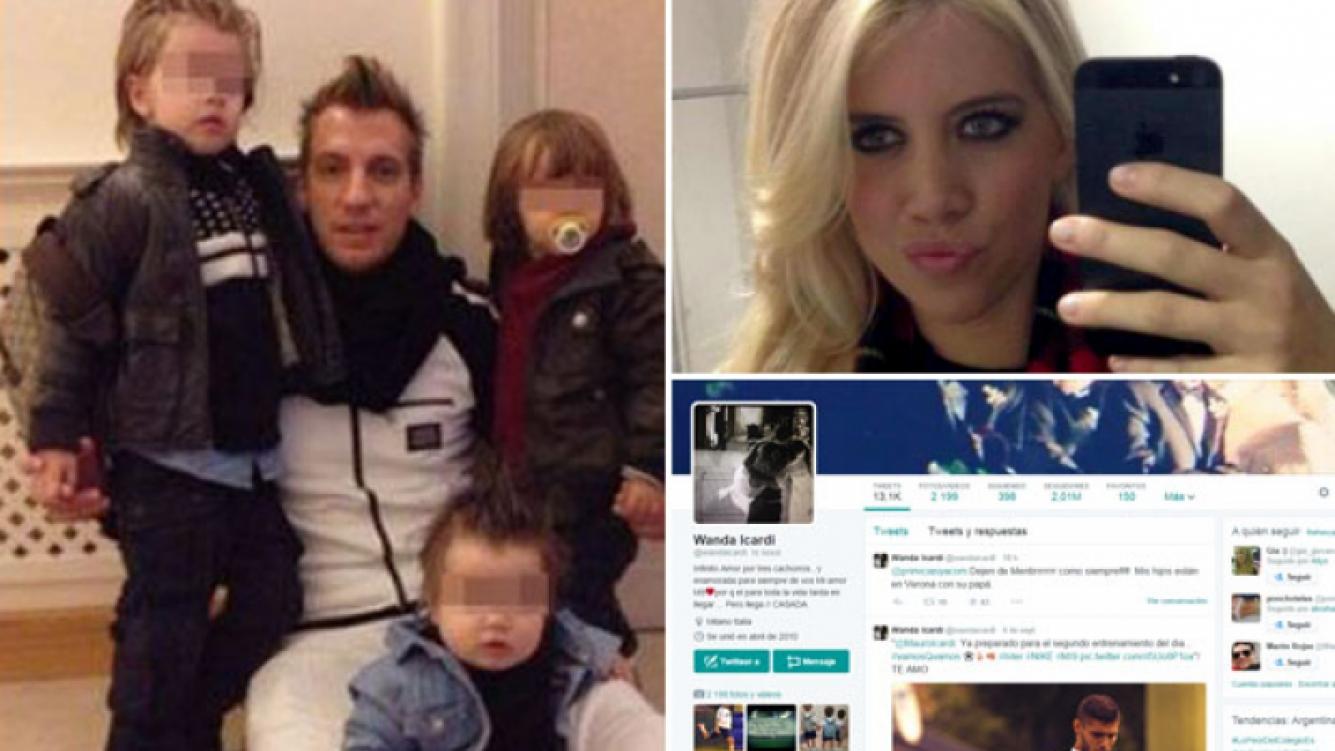Maxi López se reencontró con sus hijos. (Fotos: Web)