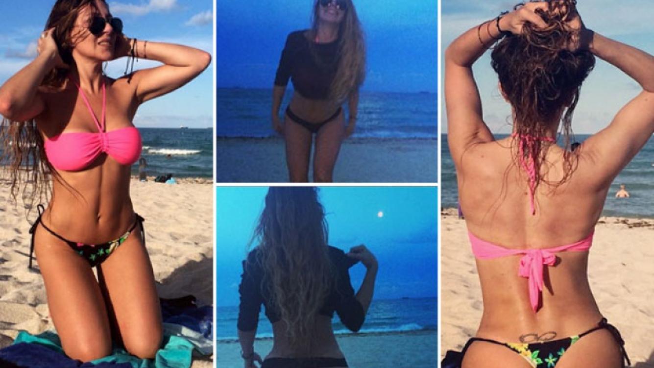 El lomazo de Mónica Ayos en las playas de Miami. (Fotos: Instagram)