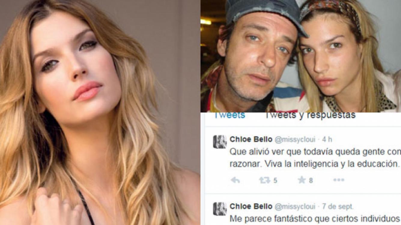 Chloé Bello se mostró indignada por las críticas que recibió tras la muerte de Gustavo (Fotos: Web).
