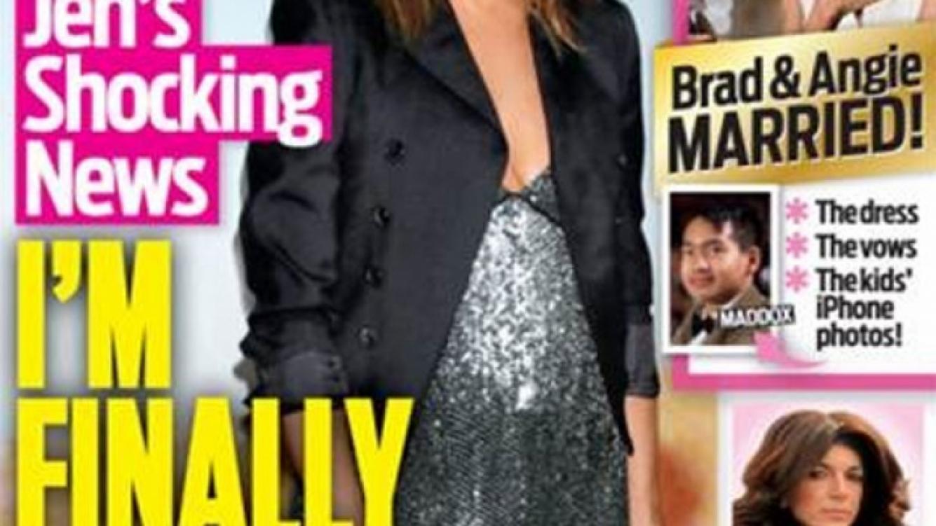 Jennifer Aniston estaría embarazada a sus 45 años. (Foto: OK! Magazine)
