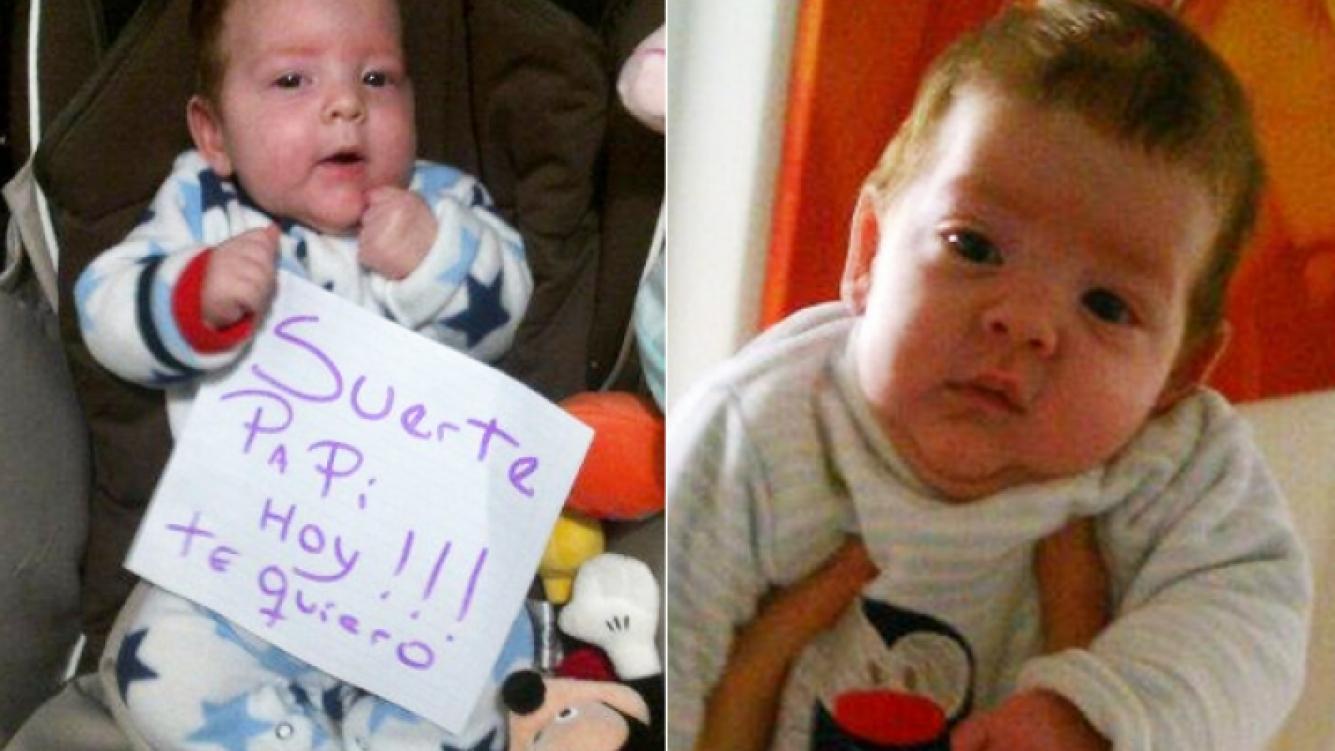 Antonio Ventura y un mensaje para su papá. (Foto: @fabianaliuzzi1)