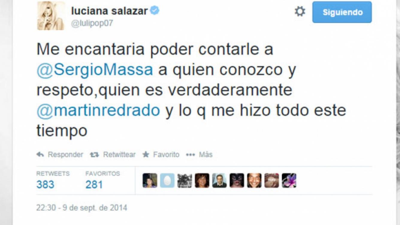 El furibundo tweet de Luciana contra su ex pareja (Foto: Captura).