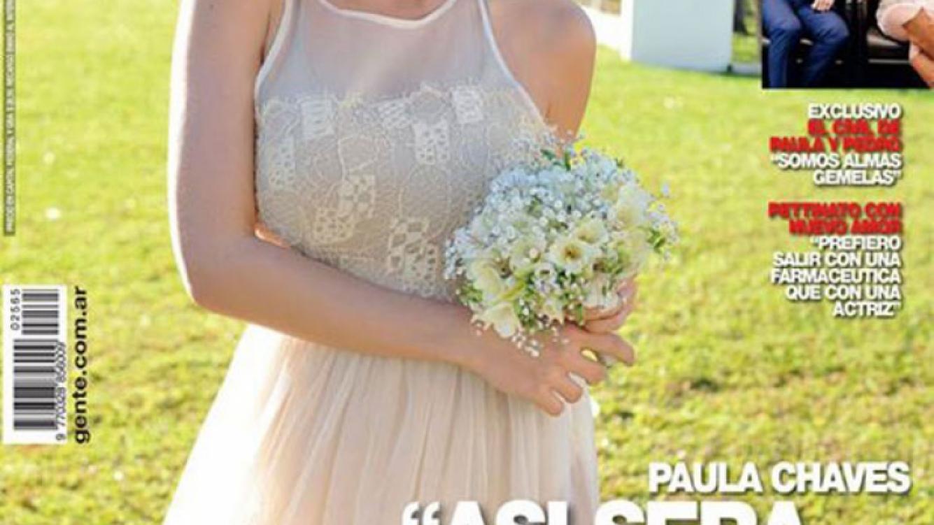 Paula Chaves, una novia de tapa. (Foto: revista Gente)