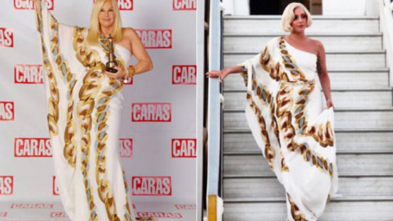 ¿Lady Gaga copió a Susana Giménez?: las artistas usaron el mismo vestido (Foto: Web)