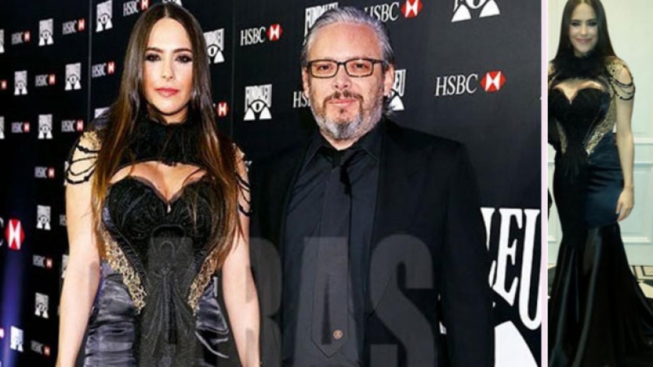 Victoria Vannucci y su singular look estilo gótico en una gala benéfica. (Foto: revista Caras y Twitter)