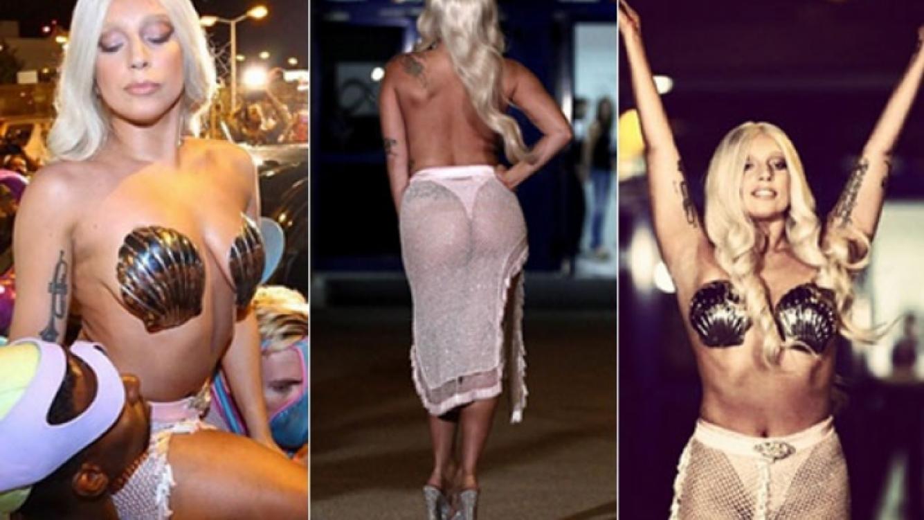 Lady Gaga jugó a ser una diosa griega nudista en su concierto en Atenas (Foto: Instagram)