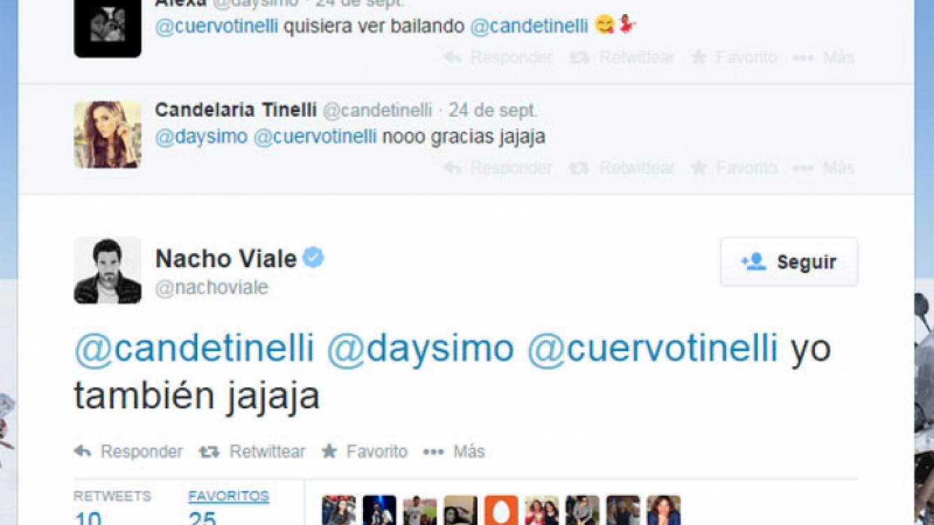 Nacho Viale se tomó con humor la idea de que Cande se incorpore al Bailando (Fotos: Web).