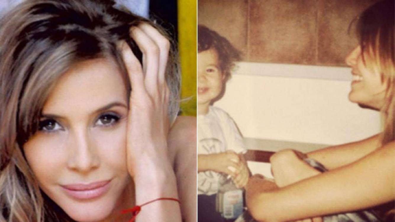 Guillermina Valdés y una foto retro y súper tierna junto a su hijo mayor. (Fotos: Web e Instagram)