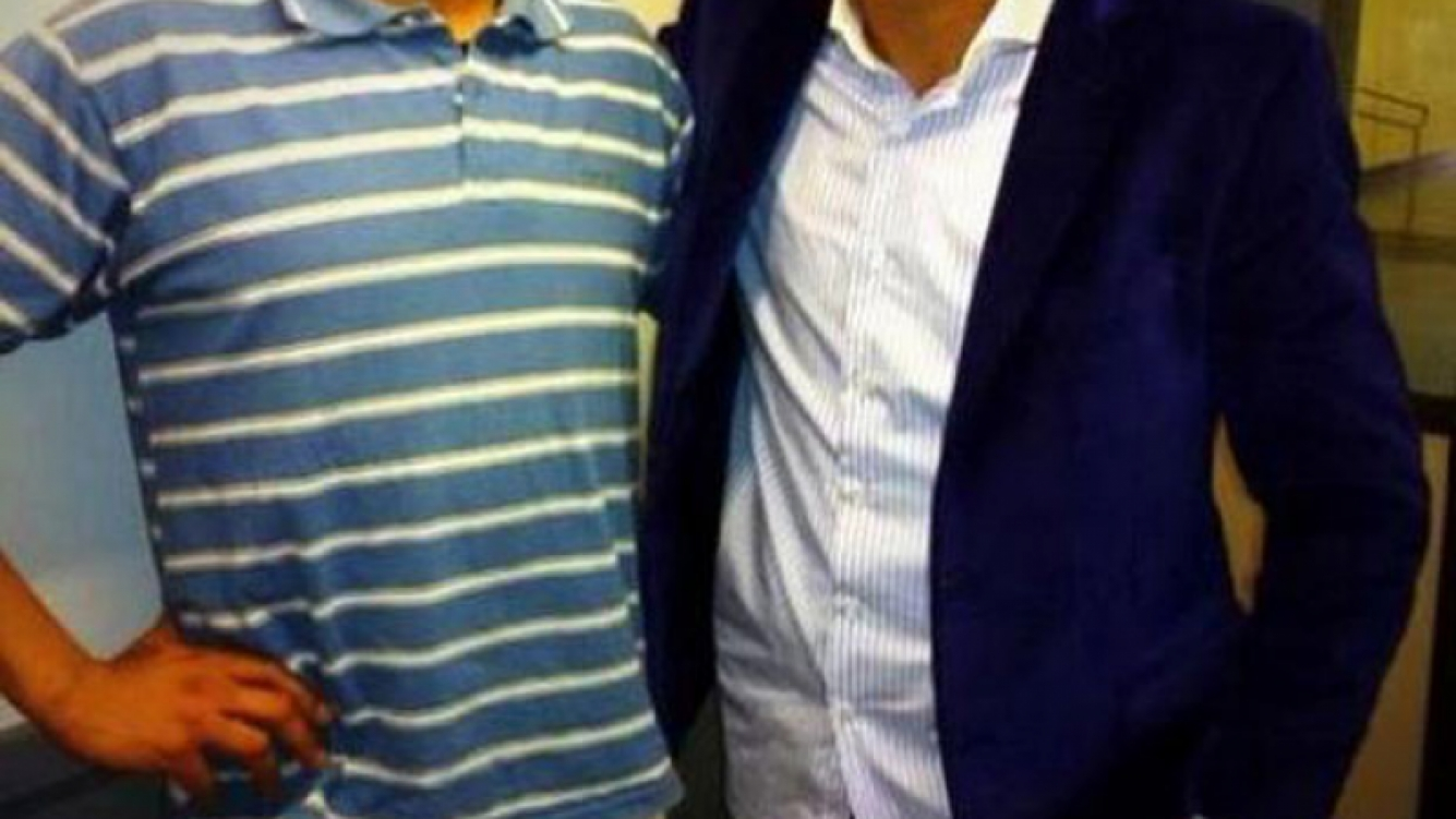 Ivo Cutzarida y Gastón Aguirre, juntos tras el programa de Chiche Gelblung (Foto: Web).