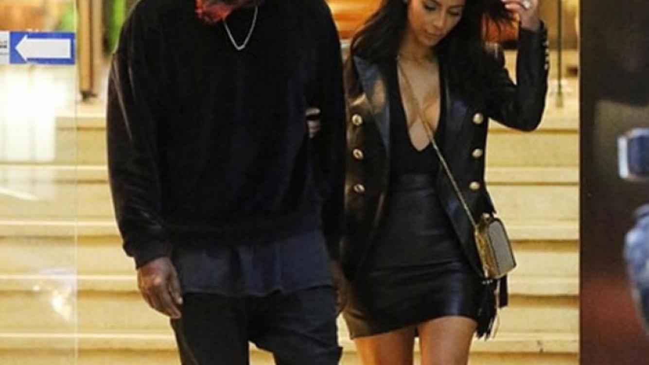 Kim Kardashian y su novio, el rapero Kanye West. (Foto: Web)