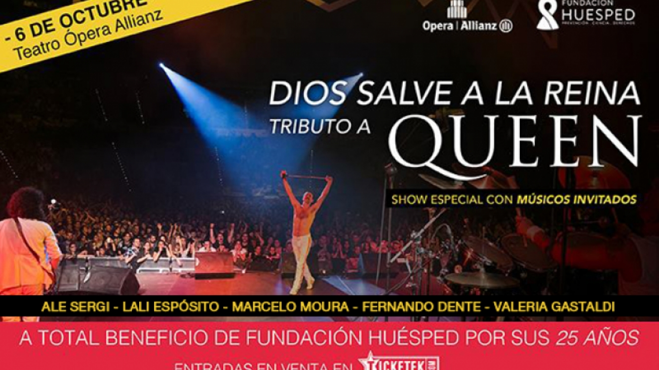 """Dios Salve a la Reina"" a beneficio de Fundación Huésped."