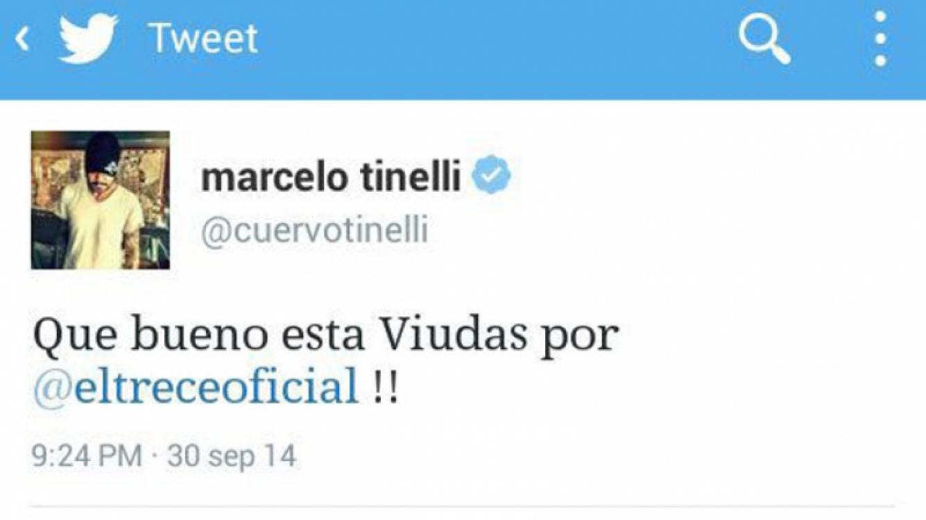 El blooper de Marcelo Tinelli en Twitter. (Foto. @CuervoTinelli)