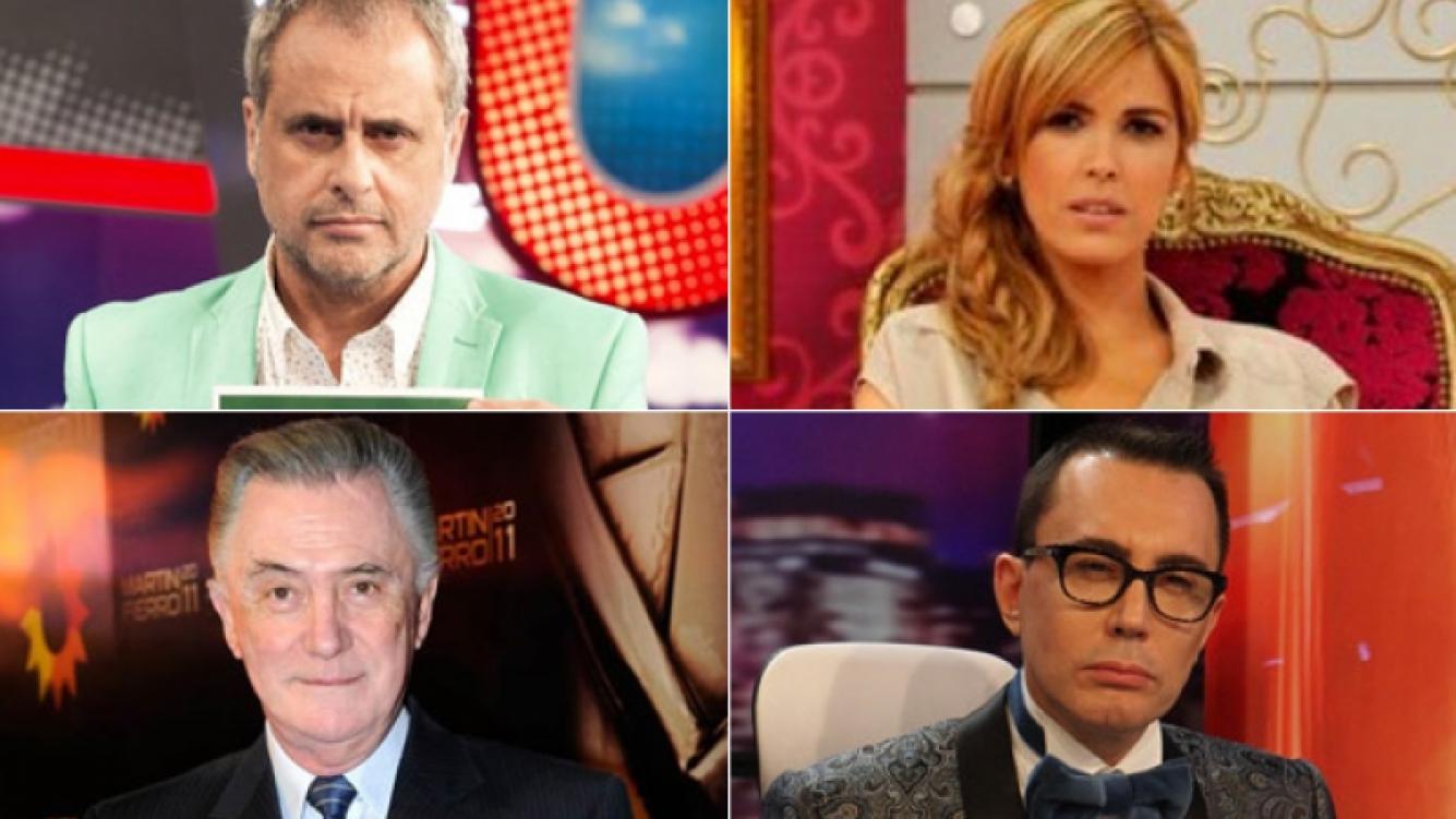 Jorge Rial, Viviana Canosa, Lucho Avilés y Marcelo Polino. (Fotos: archivo Web)