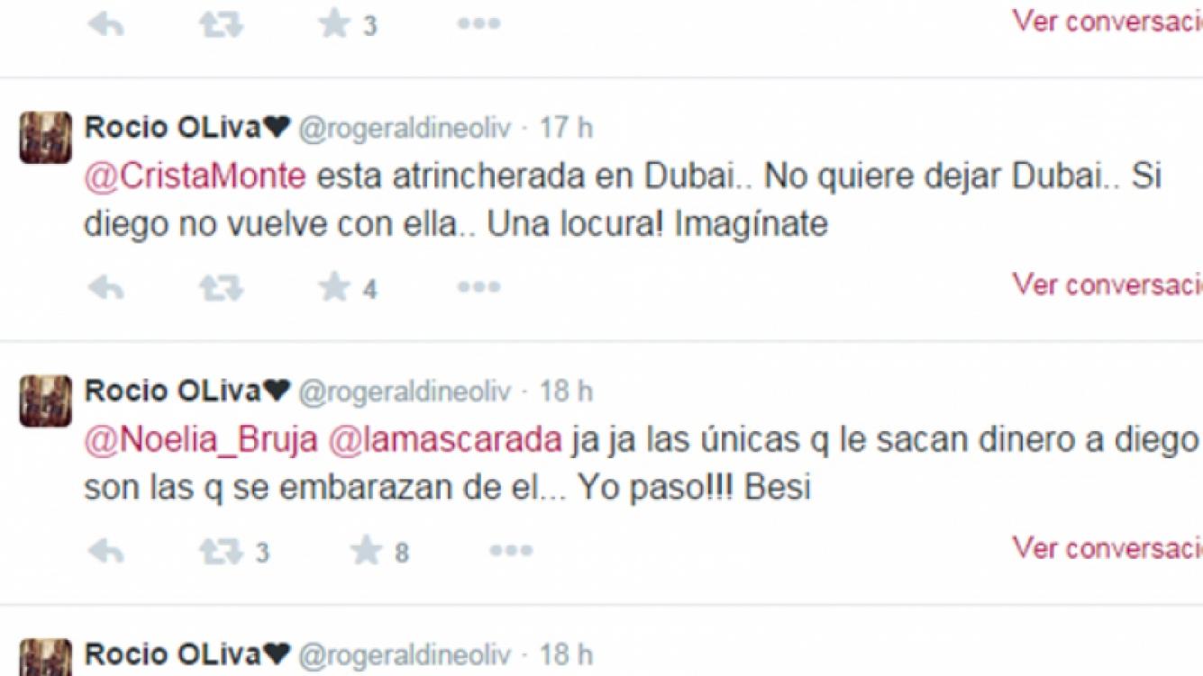 Rocío Oliva, reconciliada con Maradona, dispara contra Ojeda (Foto: Captura).