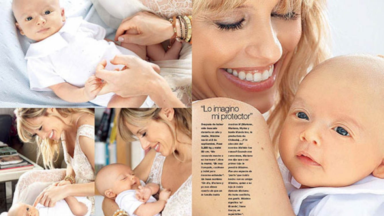 Mariana Fabbiani presentó a su bebé: