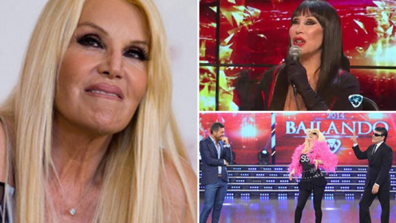 Susana Giménez y una picante respuesta al palito de Moria Casán. (Foto: Web)