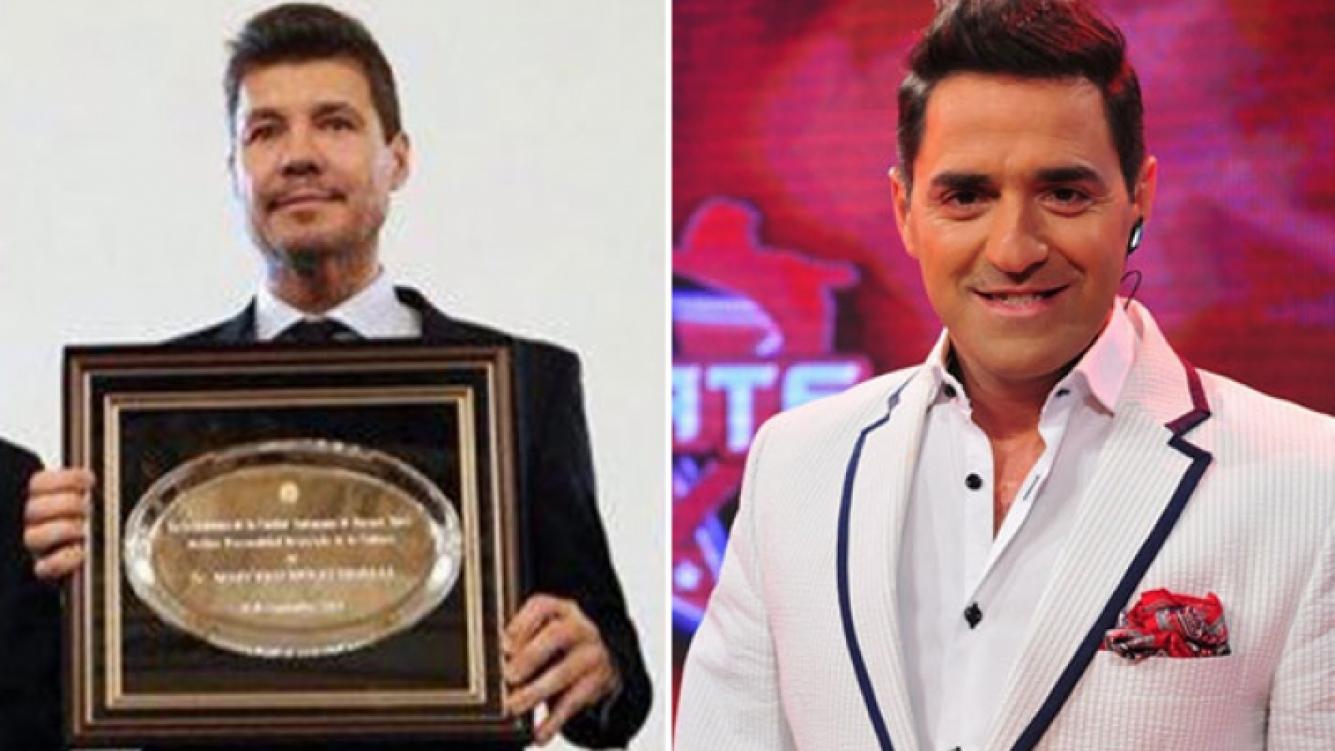 Mariano Iúdica felicitó a Marcelo Tinelli por su distinción en la Legislatura porteña (Foto: Web)