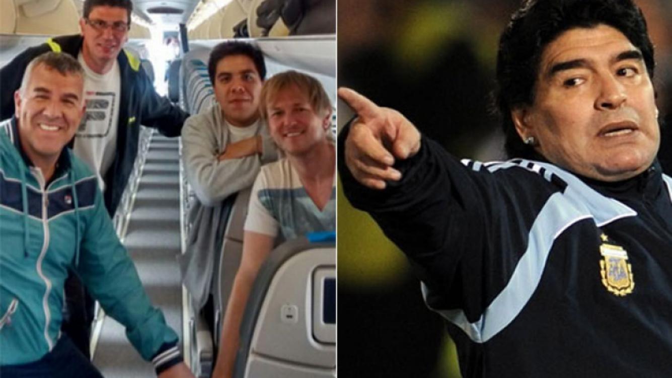 Dady Brieva, ácido con Diego Maradona (Foto: Twitter y Web)