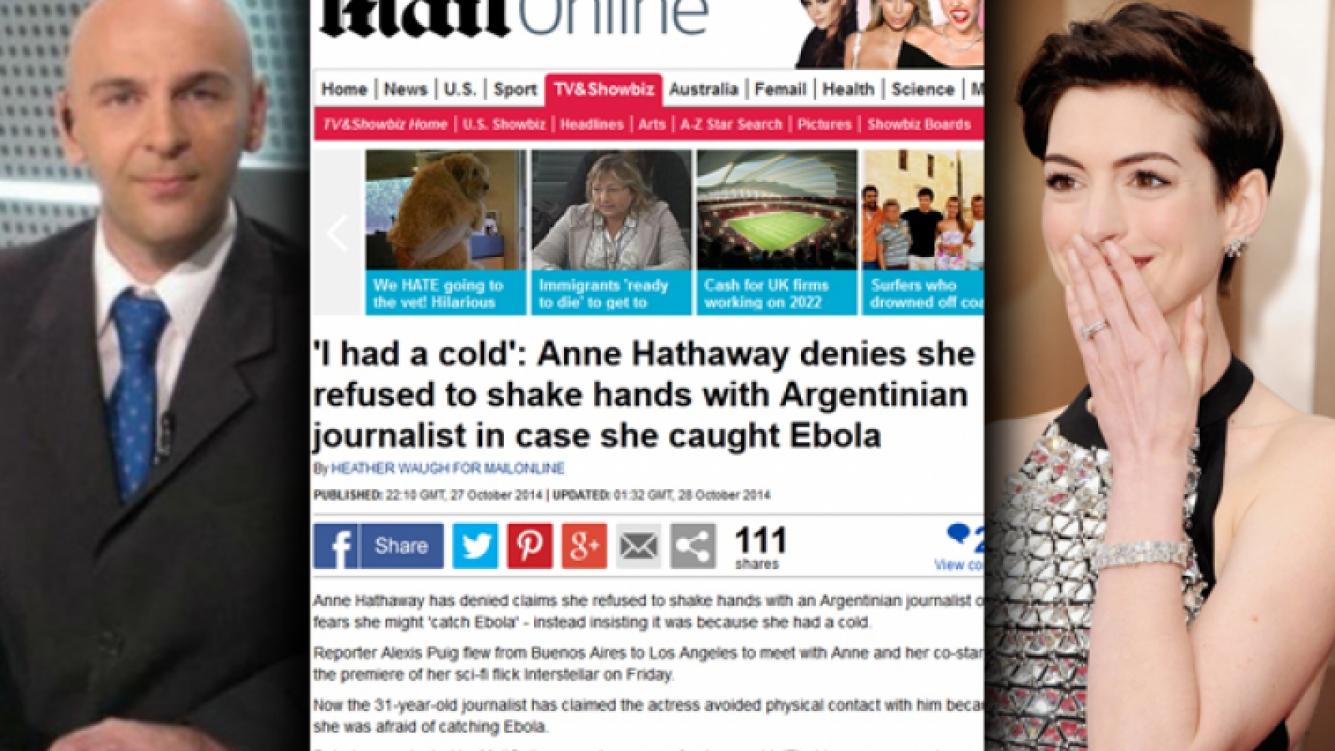 Anne Hathaway y Alexis Puig y el escándalo del ébola. (Foto: Web)
