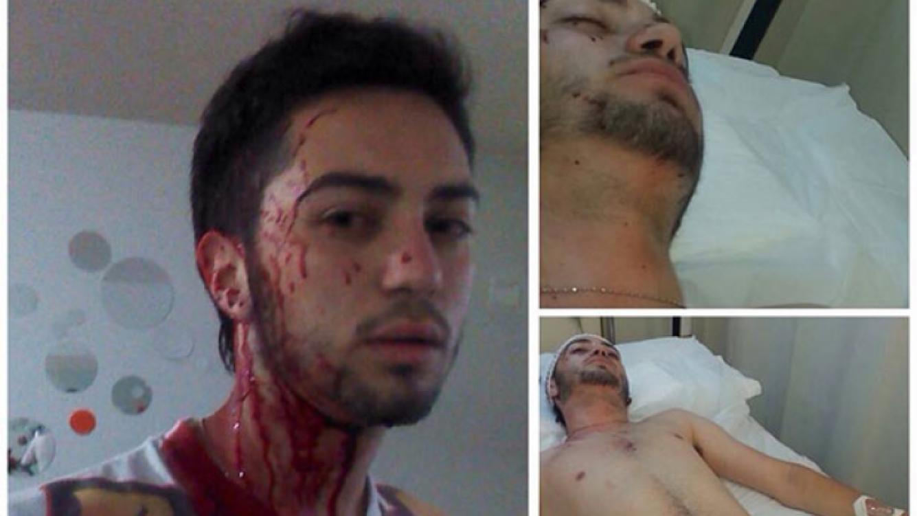 El hijo de Adriana, hijo internado tras un salvaje asalto. (Foto: Facebook.com/CantandoConAdrianaOficial)
